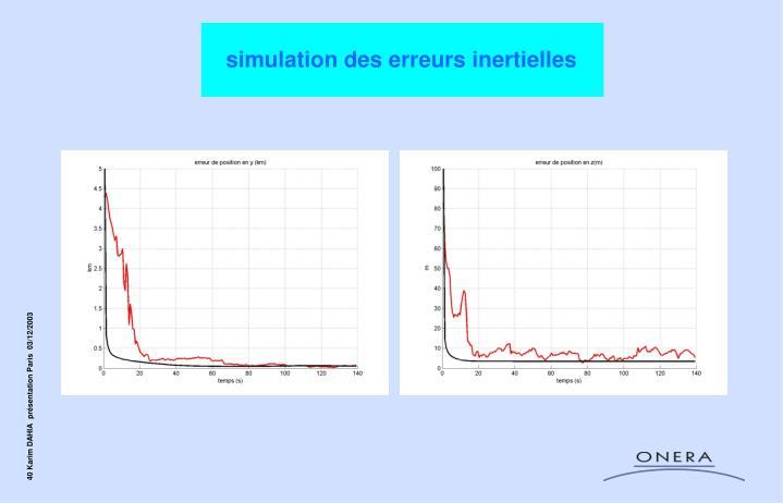simulation des erreurs inertielles