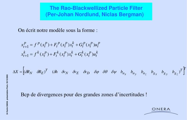The Rao-Blackwellized Particle Filter