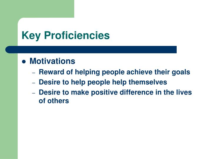 Key Proficiencies