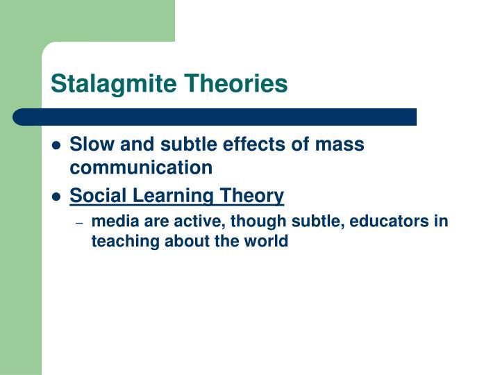 Stalagmite Theories