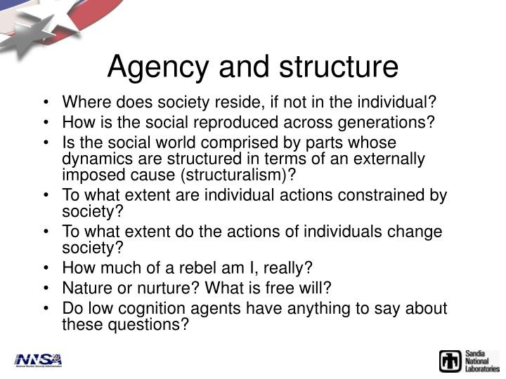 Agency and structure