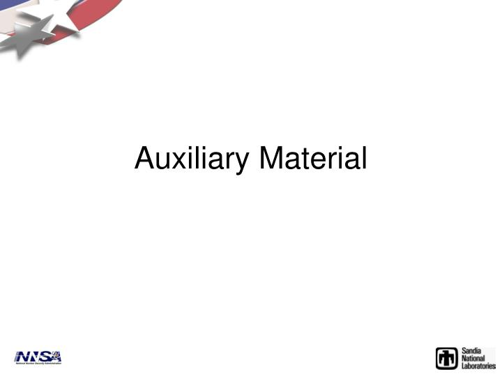 Auxiliary Material