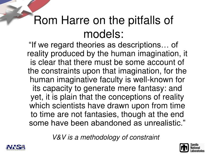 Rom Harre on the pitfalls of models: