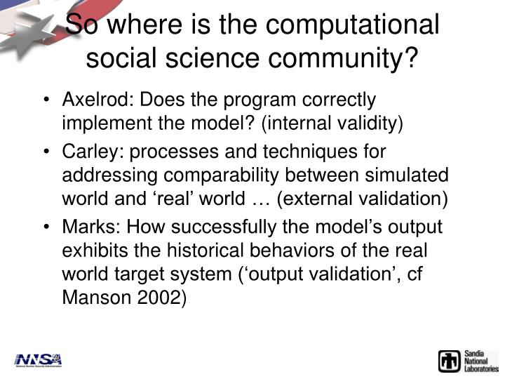 So where is the computational social science community?