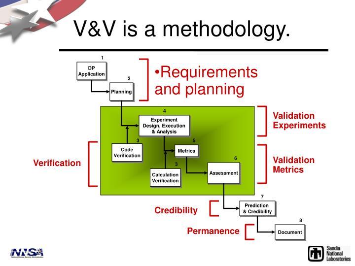 V&V is a methodology.