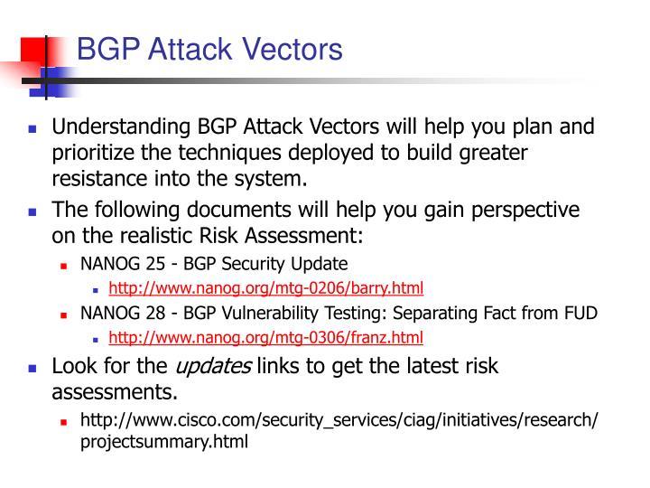BGP Attack Vectors