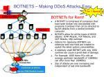 botnets making ddos attacks easy