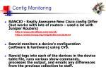 config monitoring