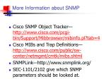 more information about snmp
