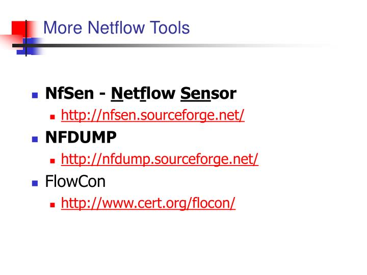 More Netflow Tools
