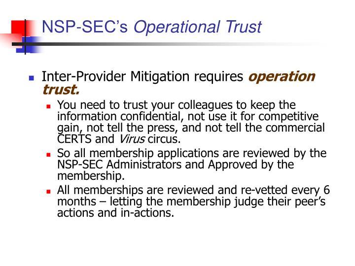 NSP-SEC's