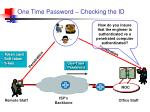 one time password checking the id