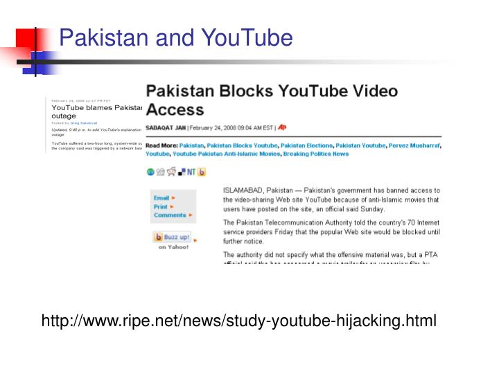 Pakistan and YouTube