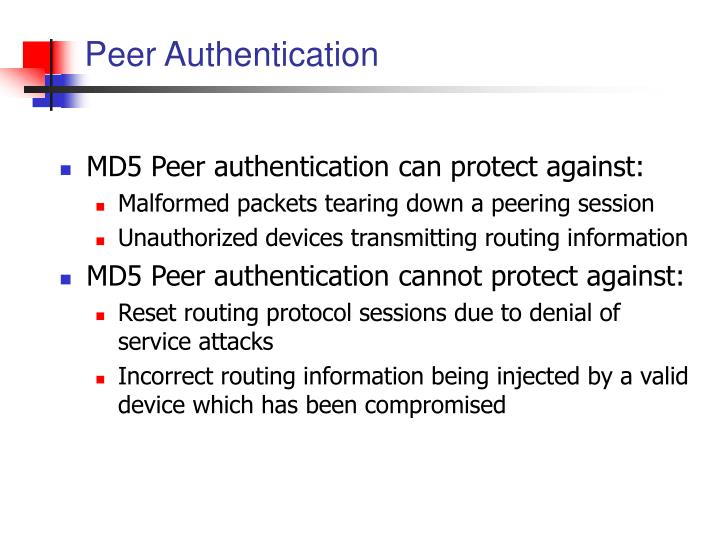 Peer Authentication