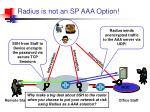 radius is not an sp aaa option