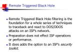 remote triggered black hole