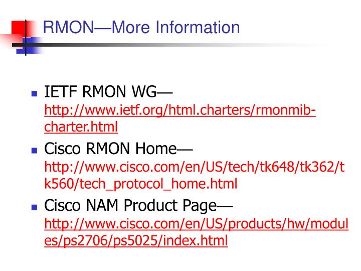 RMON—More Information