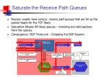 saturate the receive path queues