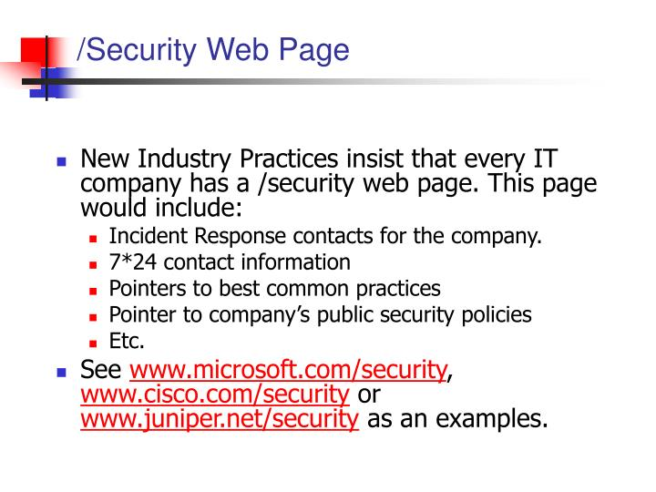 /Security Web Page