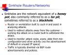 sinkhole routers networks