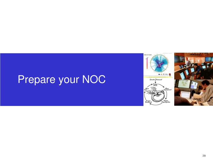 Prepare your NOC