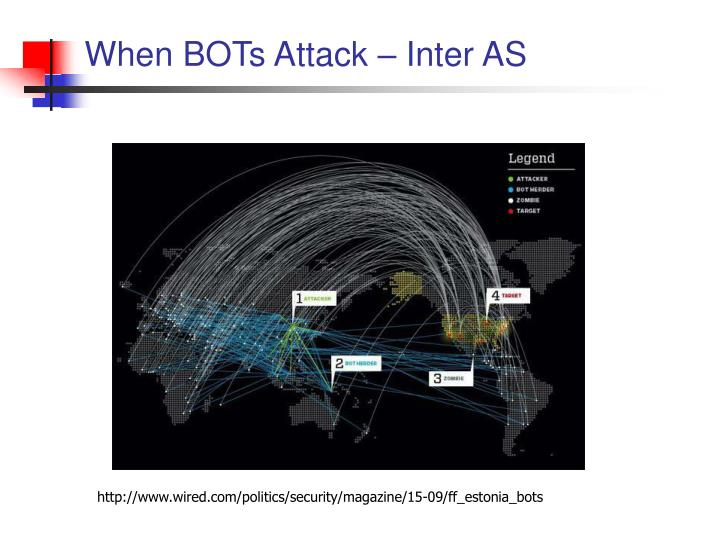 When BOTs Attack – Inter AS