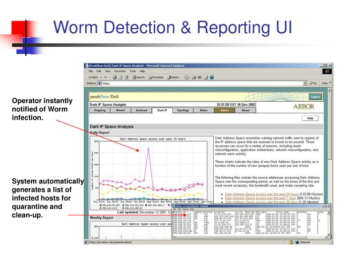 Worm Detection & Reporting UI