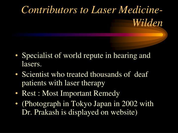 Contributors to Laser Medicine-Wilden