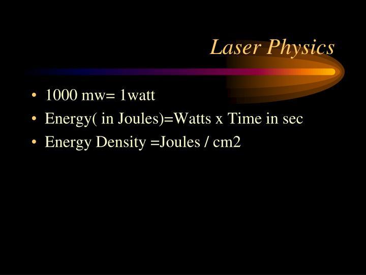 Laser Physics