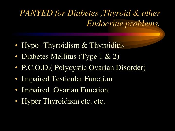 PANYED for Diabetes ,Thyroid & other Endocrine problems.