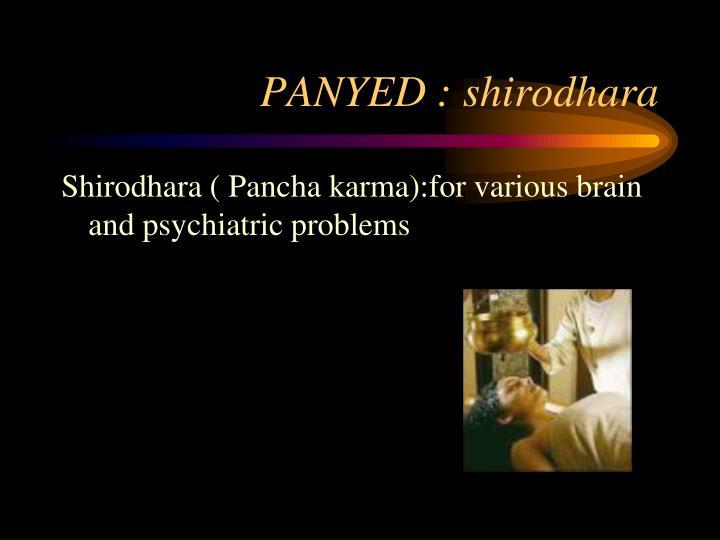 PANYED : shirodhara