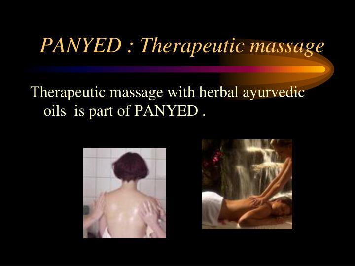 PANYED : Therapeutic massage