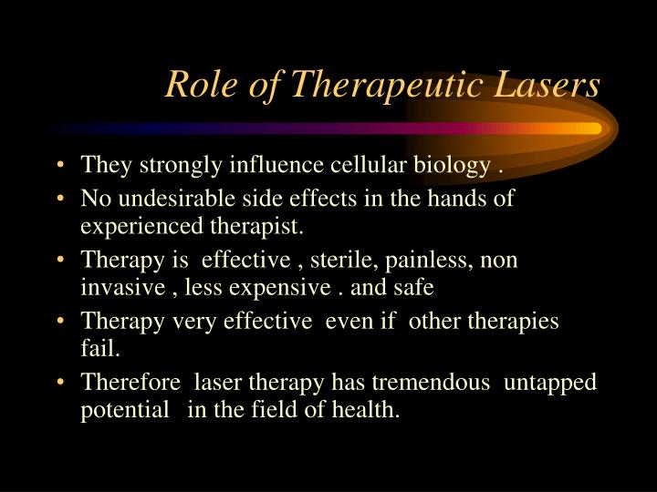 Role of Therapeutic Lasers