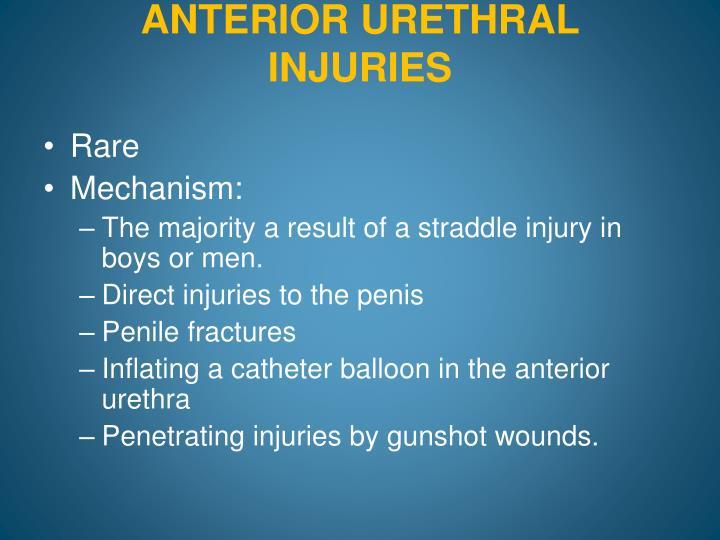 ANTERIOR URETHRAL INJURIES