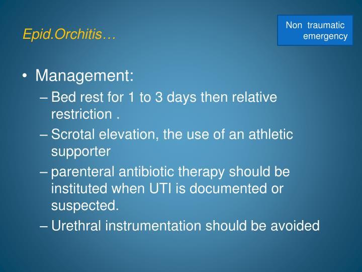 Epid.Orchitis…