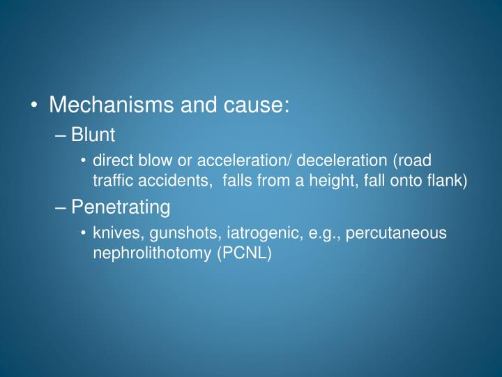 Mechanisms and cause: