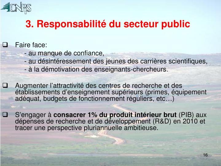 3. Responsabilité du secteur public