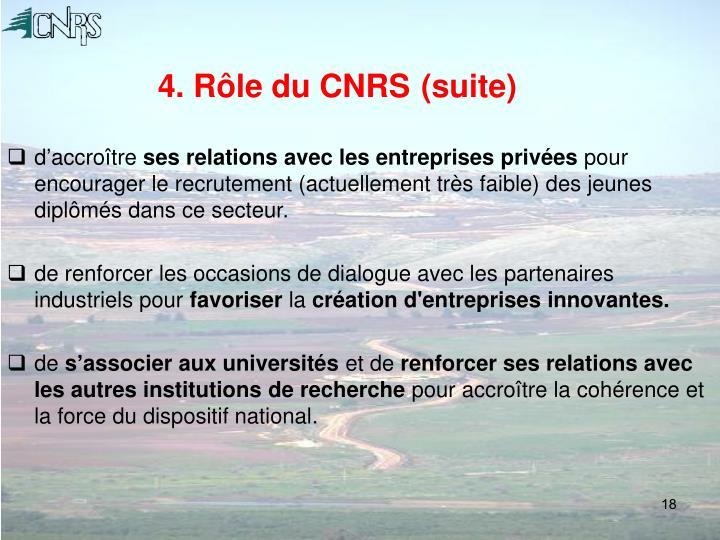 4. Rôle du CNRS