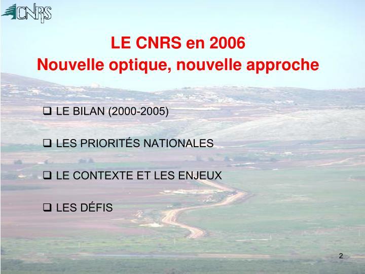 LE CNRS en 2006