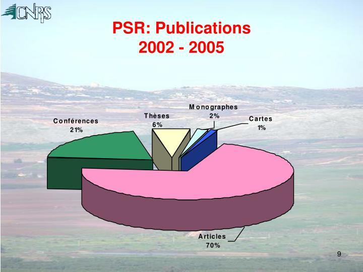 PSR: Publications