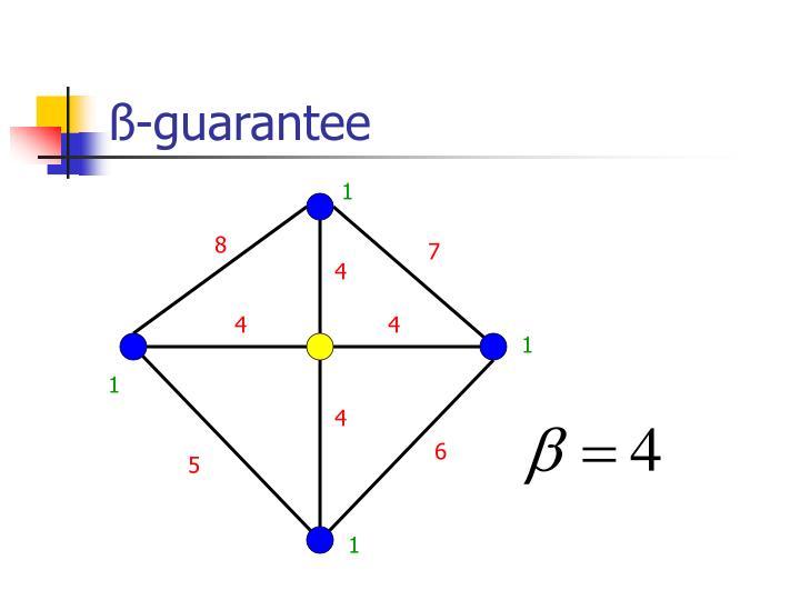 ß-guarantee