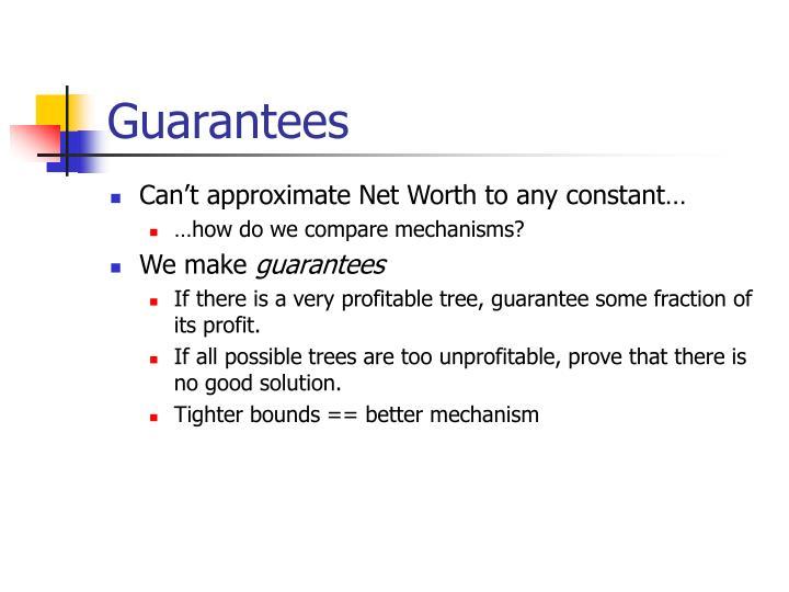 Guarantees