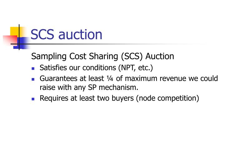 SCS auction