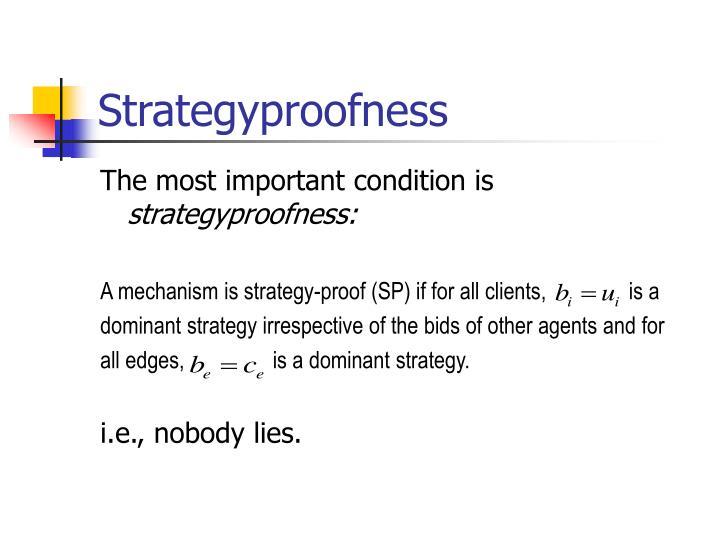 Strategyproofness