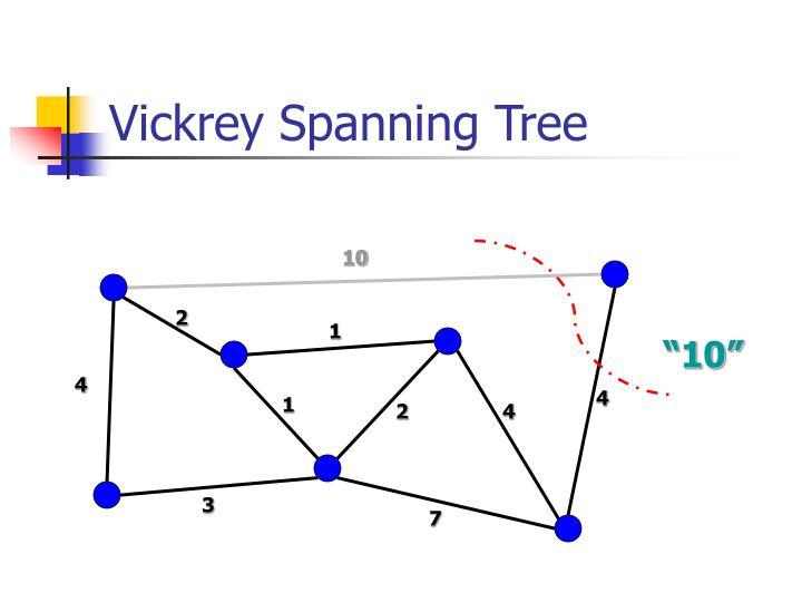 Vickrey Spanning Tree