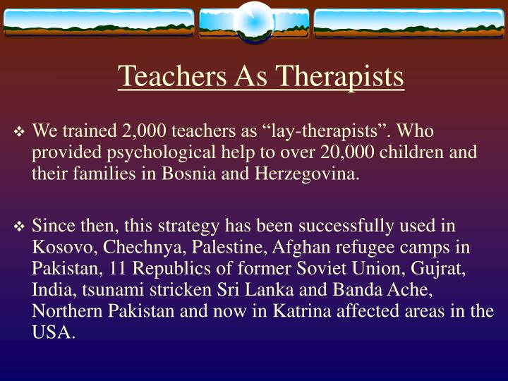 Teachers As Therapists
