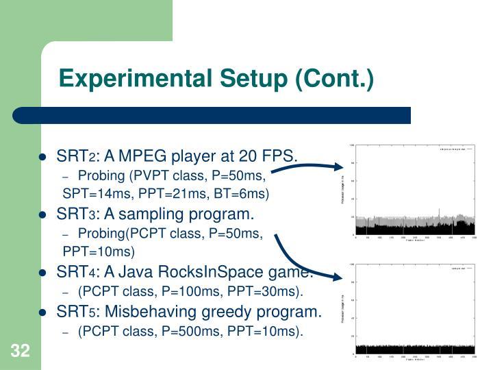 Experimental Setup (Cont.)