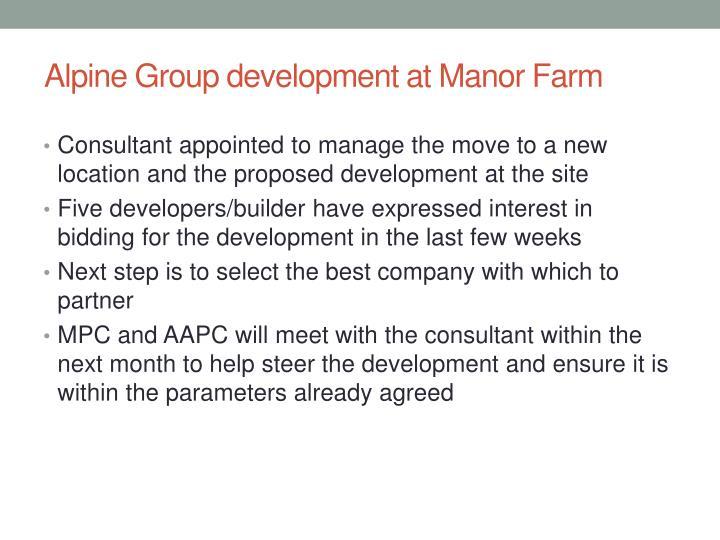 Alpine Group development at Manor Farm