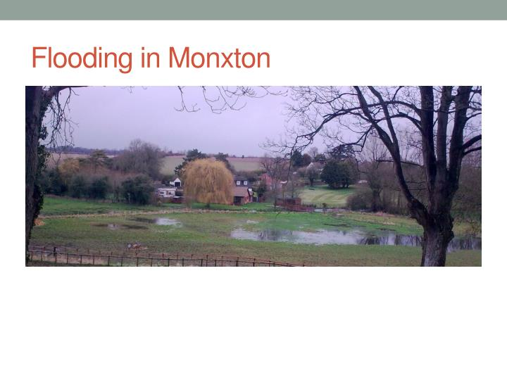 Flooding in Monxton