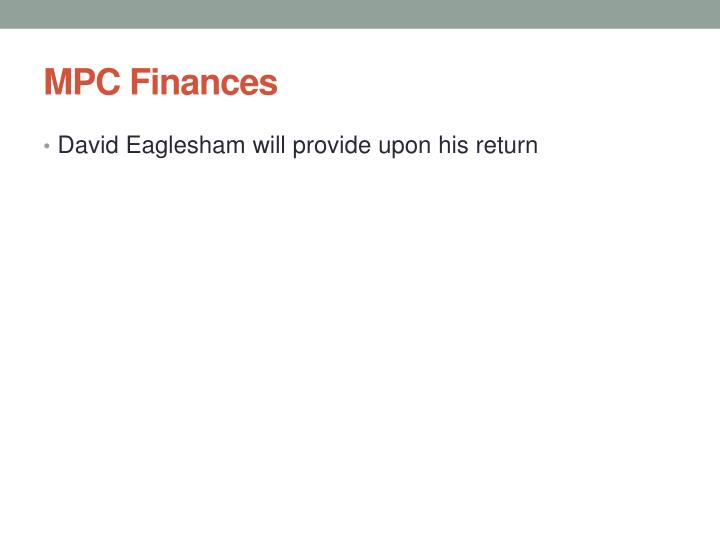 MPC Finances